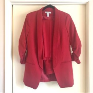H&M red suit